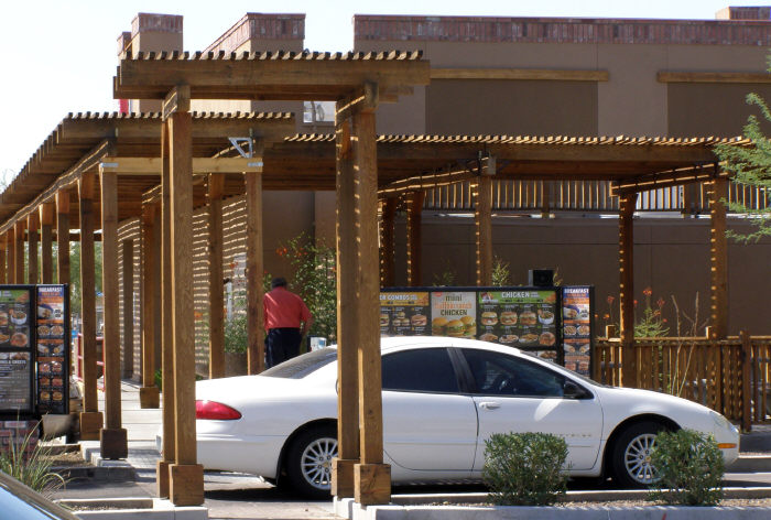 Commercial Wood Patio Shade