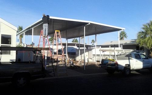 RV park awning