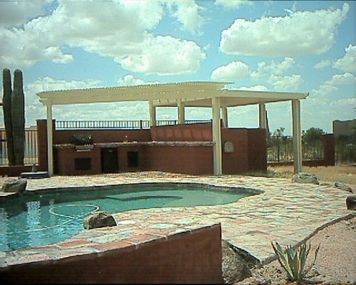 Alumawood patio cover solid and lattice