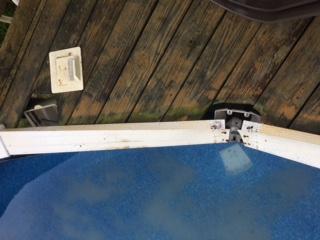 Top Railing of Pool