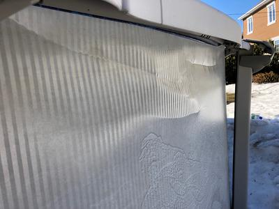Wall Creased from Ice and Snow