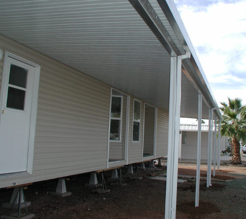 aluminum awning aluminum awning with I-beam aluminum patio cover mobile home  ... - Mobile Home Awnings