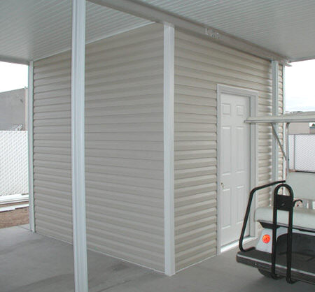 shed with vinyl siding