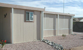 wood shed and screen room