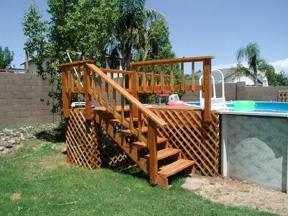 wood pool deck