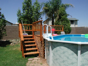 deck for above ground pool