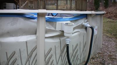 Dented Above Ground Pool