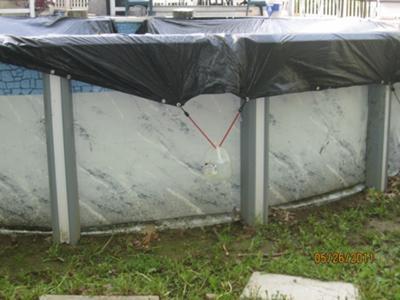 Winter Damage to Sidewall