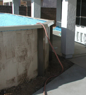 draining an above ground pool