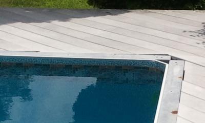 Corner of Vinyl In Ground Pool