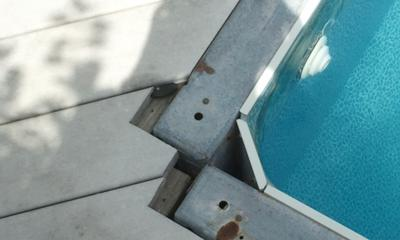 Close Up of Pool Corner Construction