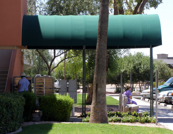 Entry Way Canopy for a Commercial Building