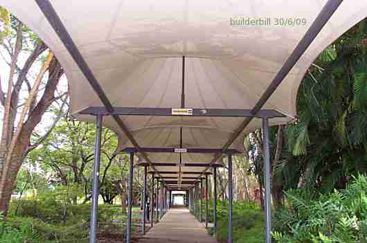 Fabric Walkway Cover