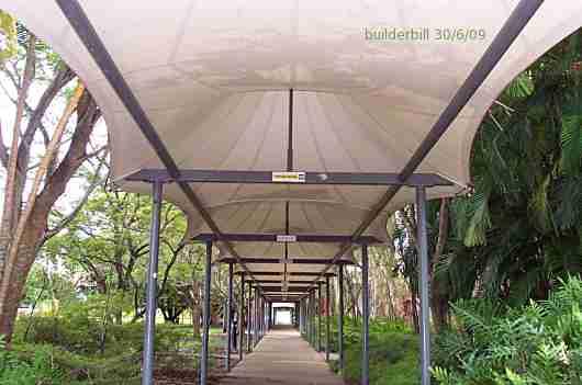 Fabric Walkway Cover