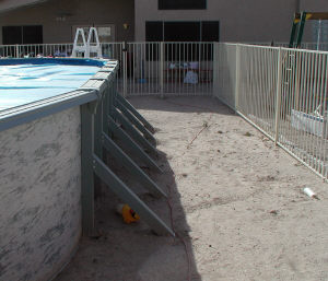 fencing for above ground pool