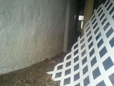 Wall Under Deck, No Damage