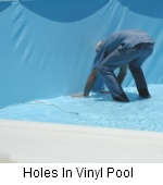 Holes in vinyl Pool