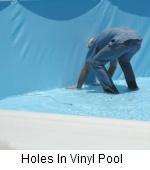 Holes in vinyl Pool
