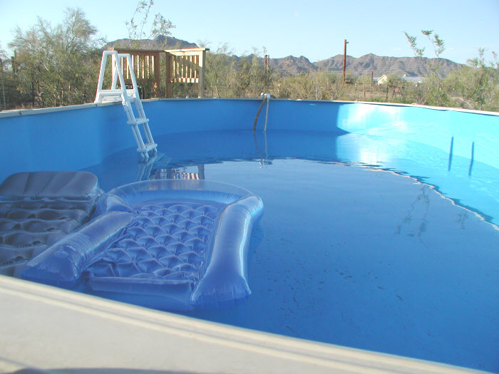 above ground pool filling