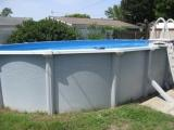 side of above ground pool