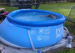 inflatable ring pool problem
