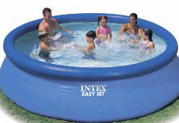 inflatable ring above ground pool