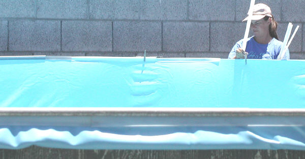 installing above ground pool coping