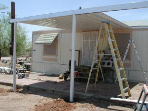 installing awning panels