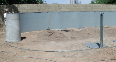 installing above ground pool wall