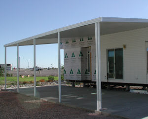 awning on park model