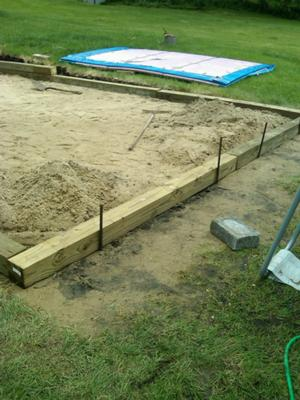 Leveling yard for intex pool for Above ground pool base ideas