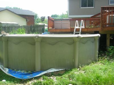 Pool Liner Under Pool