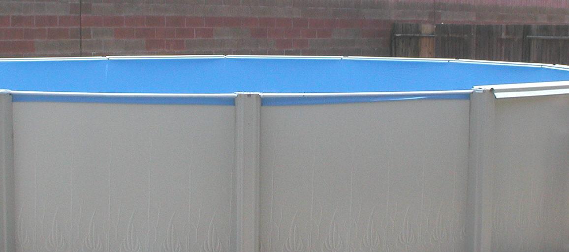vinyl liner overhang on above ground pool