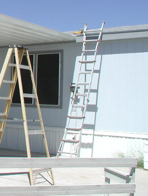 little giant ladder extended