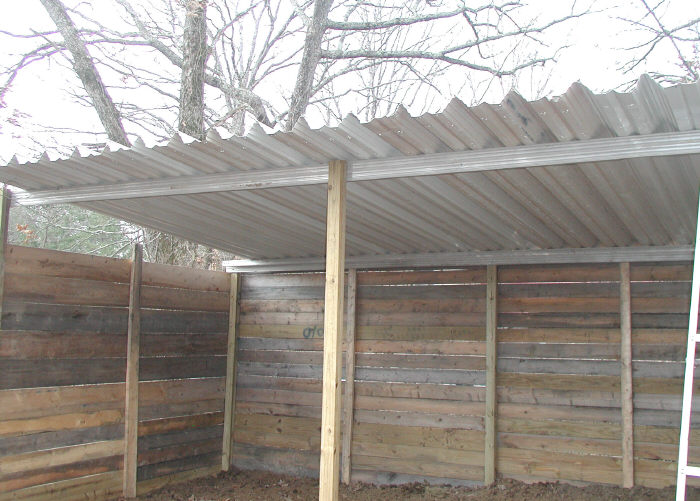 awning panels and gutter