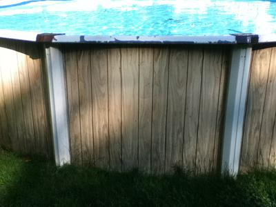 Pool Sidewall and Uprights