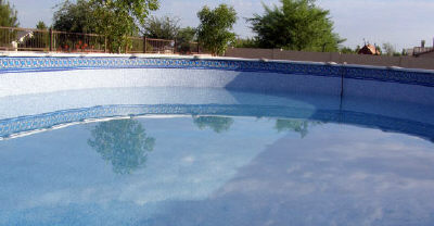 above ground pool with leak
