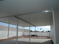 aluminum awning with I-beam