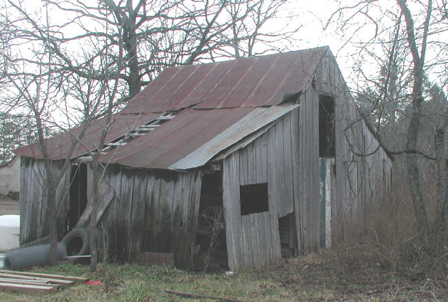 old barn roof