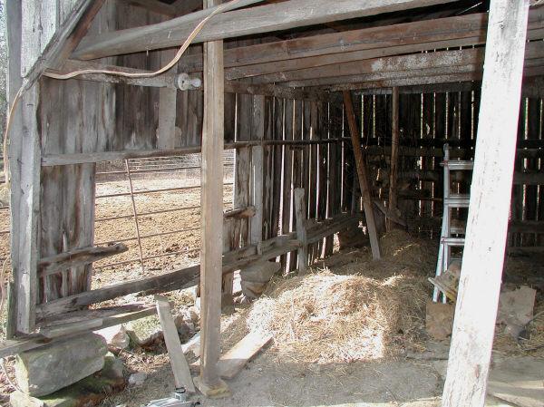 old barn inside