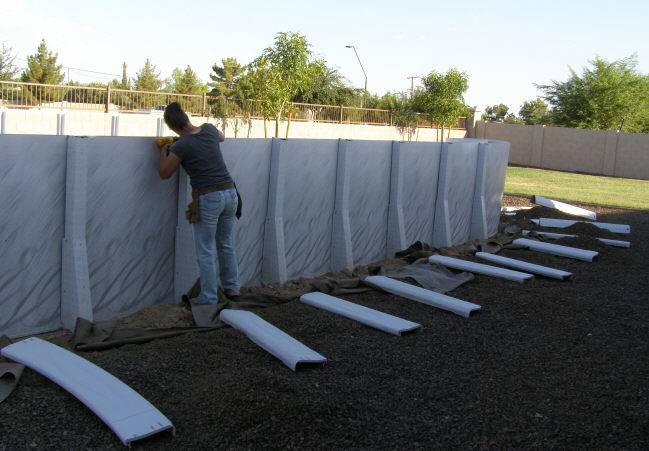 securing wall on oval sides