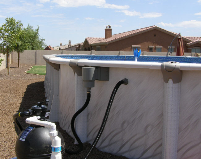 above ground pool filter setup
