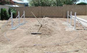 oval pool and sand base
