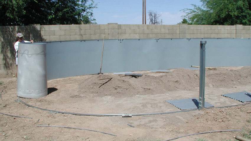Installing Pool Retaining Rods
