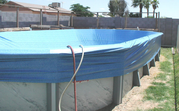 overlap above ground pool liner
