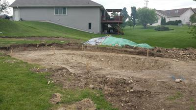 Ground Prep for Doughboy Oval Pool