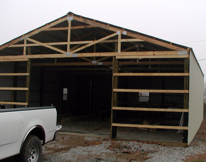 pole barn front view