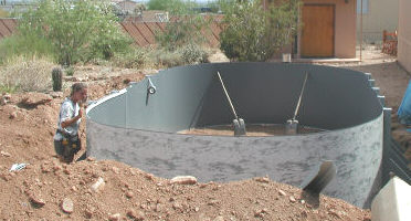 above ground pool in ground