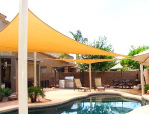 shade sail over pool