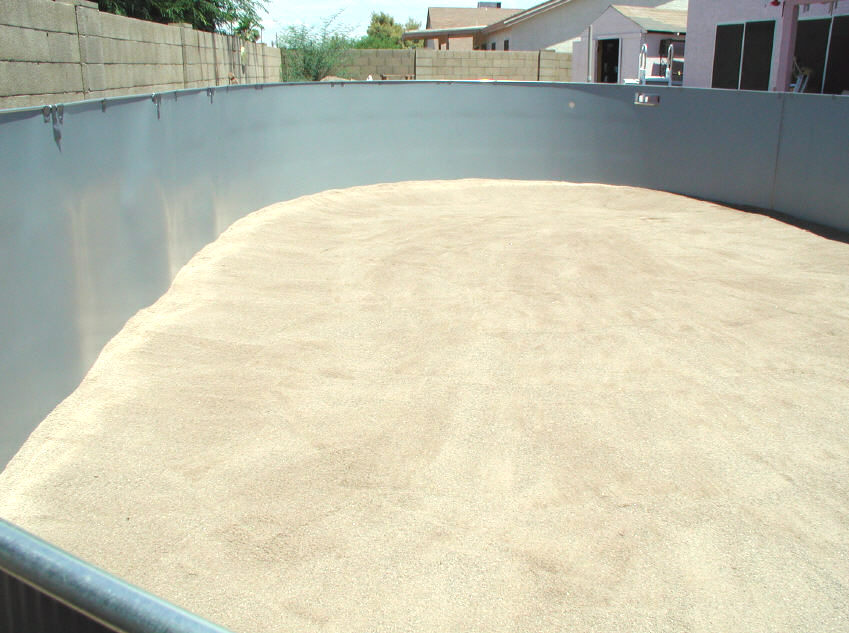 sand base for above ground pool